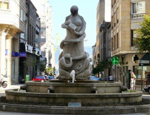 8 esculturas feitas con granito de Galicia